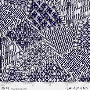 P & B Textiles - Flair by Pela Studio - Navy Blue