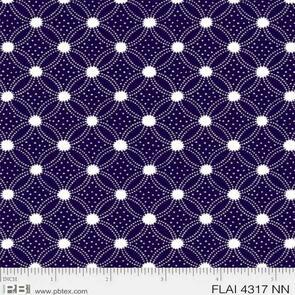 P & B Textiles  - Flair - Navy Blue