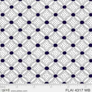 P & B Textiles  - Flair b Pela Studio - White