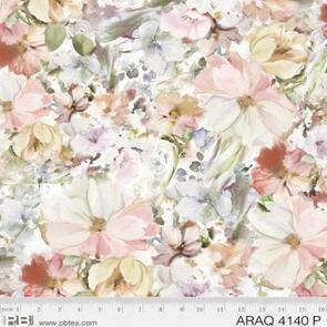 P & B Textiles Arabesque Watercolour Floral PB4140P