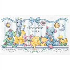 Dimensions  Baby's Friends Birth Record - Cross Stitch Kit