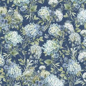 Wilmington Prints Bohemian Blue Blue Packed Floral