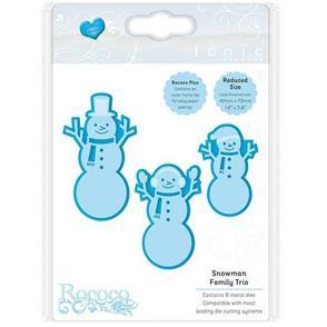 Tonic  Dies - Christmas Trio - Snowman Family