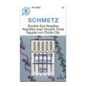 Schmetz Double Eye Needles, Size 80/12