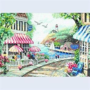 Dimensions  Cafe by the Sea - Cross Stitch Kit
