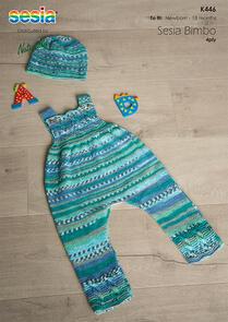 Sesia Knitting Pattern K446 - Romper and Hat