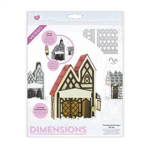 Tonic Dies - Dimensions - Tudor Town - George & Dragon Die Set