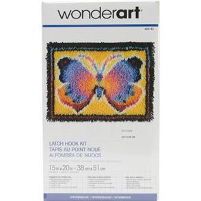 "Caron Wonderart Butterfly Fantasy - Latch Hook Kit - 15"" x 20"""