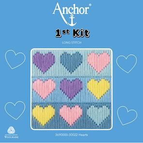 Anchor 1st Kit - Longstitch - Hearts