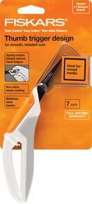Fiskars Total Control Non-Stick Precision Craft Scissors