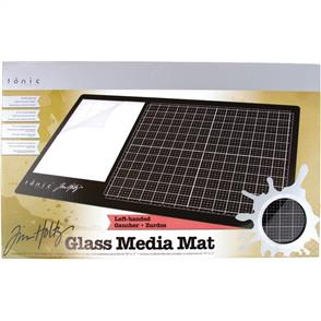 "Tonic Tim Holtz Glass Media Mat Left Handed 14.25"" x 23.75"""