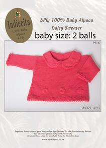Alpaca Yarns 1916 Daisy Sweater - Knitting Pattern