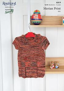 Naturally K419 Little Dress Knitting Pattern