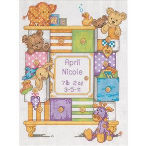 Dimensions  Birth Record - Baby Drawers - Cross Stitch Kit