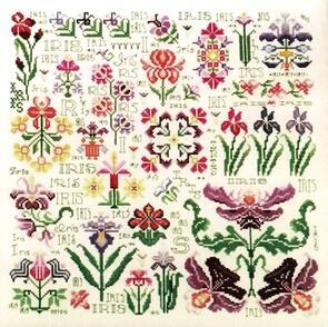 Rosewood Manor Cross Stitch Designs - Dreaming of Iris