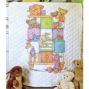 Dimensions  Baby Drawers Quilt - Stamped Cross Stitch