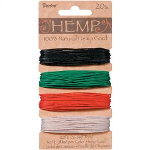 Darice Hemp Cord - Primary - 36.6meters
