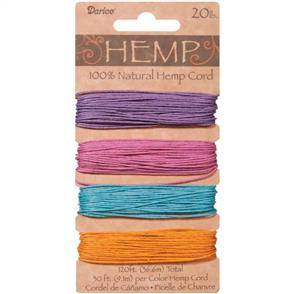 Darice Hemp Cord - Pastels - 36.6meters