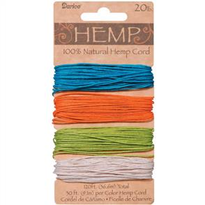 Darice Hemp Cord - Brights - 36.6meters