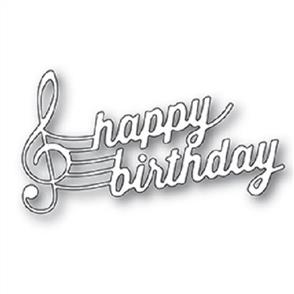 Poppystamps Musical Happy Birthday - Die