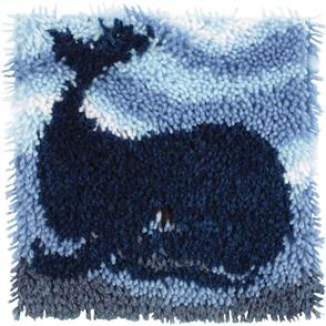 "Caron Wonderart  Latch Hook Kit - Big Blue Whale - 12"" x 12"""