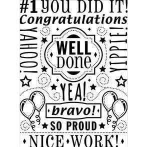 Darice  Embossing Folder - Congrats Collage