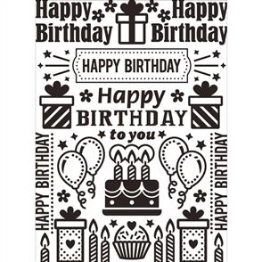 Darice  Embossing Folder - Birthday Collage