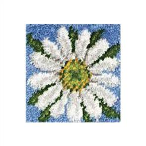 "Caron Wonderart  Latch Hook Kit - Daisy - 12"" x 12"""