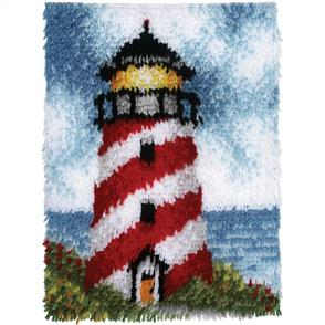 Caron Wonderart  Latch Hook Kit - Lighthouse - Sailors Beacon