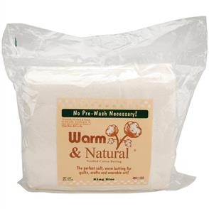 "The Warm Company Warm & Natural Cotton Batting - King Size 120""X124"""