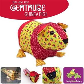 Funky Friends Factory  Gertrude Guinea Pig Soft Toy Sewing Pattern