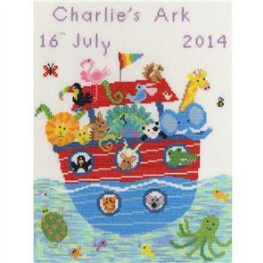 Bothy Threads  Cross Stitch Kit - My Ark - Birth Record