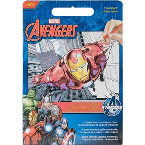 Dimensions Marvel Pencil By Number Kits - Iron Man