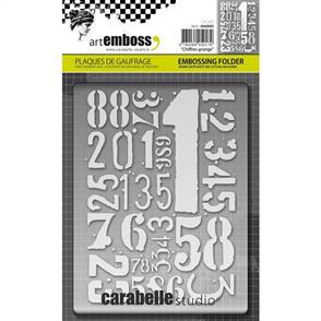 Carabelle  Studio Embossing Folder - Chiffres Grunge