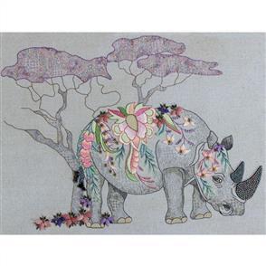 Hazel Blomkamp Crewel Creatures Kit - Roger the Rhino