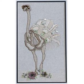 Hazel Blomkamp Crewel Creatures Kit - Audrey the Ostrich