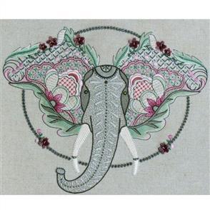 Hazel Blomkamp Crewel Creatures Kit - Shirley the Elephant