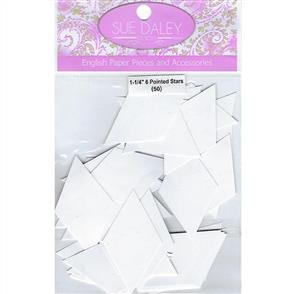 Sue Daley  English Paper Pieces - 6 pointed Star 1-1/4""