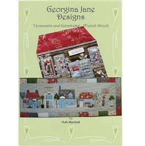 Georgina Jane Designs Wall Hanging - Croissants and Geraniums