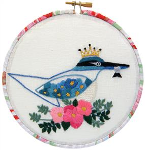 The Stitchsmith  Kotare / Kingfisher embroidery embroidery kit