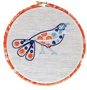 The Stitchsmith  Tangerine Tui embroidery embroidery kit