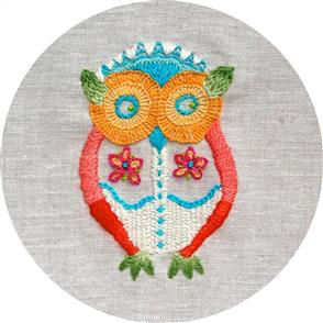The Stitchsmith  Owl Embroidery Kit