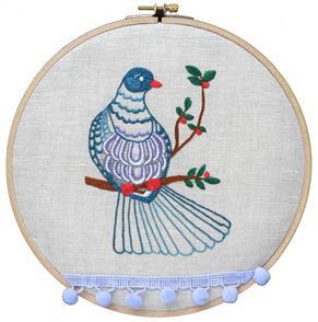The Stitchsmith  Kereru Embroidery kit