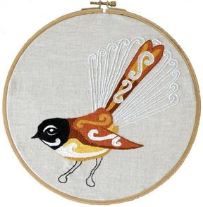 The Stitchsmith  Fantail Embroidery kit