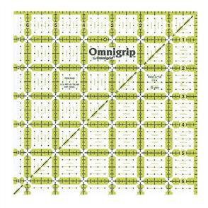 "Omnigrid Omnigrip By Non-Slip Quilter's Ruler 6.5""X6.5"""