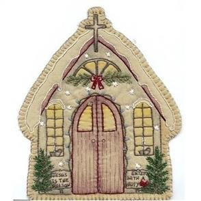 Chickadee Hollow  Vintage Christmas Church