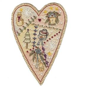 Chickadee Hollow  Vintage Christmas Prim Heart