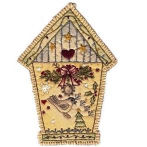Chickadee Hollow Vintage Christmas Ornament Birdhouse