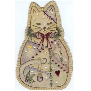 Chickadee Hollow  Vintage Christmas Kitty