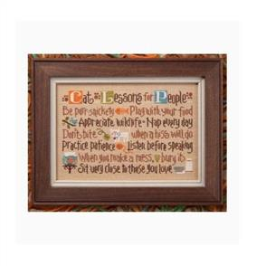 Lizzie Kate  Cross Stitch Chart - Cat Lessons for People